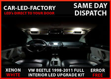 VW BEETLE 1998-2011 XENON WHITE LED UPGRADE LIGHTING INTERIOR 9 LED BULB PACK