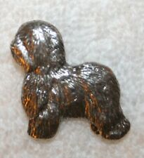 Old English Sheepdog Sheep Dog Fine PEWTER PIN Jewelry Art USA Made