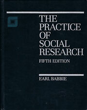 The Practice of Social Research, 5th. ed, by Earl R. Babbie, 1989, hardcover