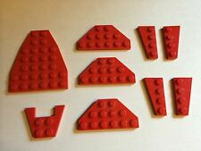 lot of 9 assorted red Lego wings for spacecraft or airplane