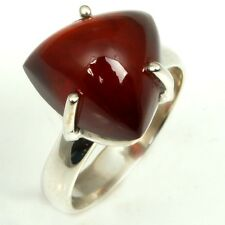 925 Sterling Silver Natural HESONITE GARNET Cabochon Gemstone Fine Ring  Size 5