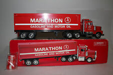 TAYLOR MADE TRUCKS MARATHON GASOLINE & MOTOR OIL TRACTOR TRAILER BOX TRUCK, 1:32