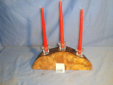 # 6086 wooden rustic spalted maple candle holder made in the USA