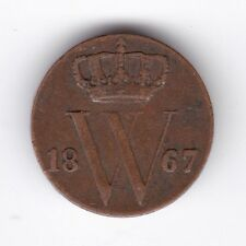 1867 Netherlands 1/2 Cent***Collectors***Copper***