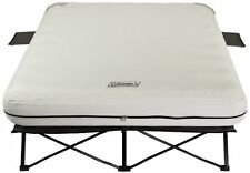 Coleman Queen AIRBED COT w Side Tables & Pump, Camping Comfort AIR MATTRESS
