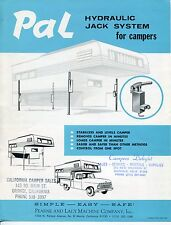 "Vintage Sales Flyer: ""PAL HYDRAULIC JACK SYSTEMS FOR CAMPERS"""