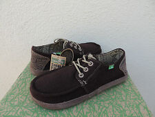 SANUK MAINSTEEZ SIDEWALK SURFER LACE-UP BOAT SHOES, MENS US 8/ EUR 41 ~NWT