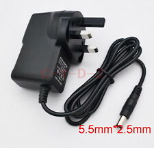 AC Converter Adapter DC 12V 1A Power Supply 12W 1000mA UK plug DC 5.5mm x 2.5mm