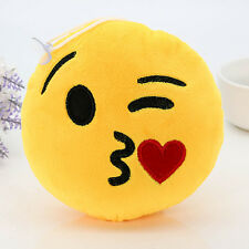 Cute Smiley Plush Lots Emoji Toy Emoticon Soft Stuffed Round Cushion Doll Kiss