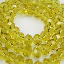 NEW Jewelry Faceted 100pcs Rondelle crystal #5040 3x4mm Beads yellow colors
