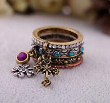 Bague multi anneaux style hippie chic boheme cuivre bronze argent. TENDANCE 2014