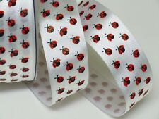 5Yds LADYBUG wired ribbon Valentine Spring Wreath Decoration Crafts Gifts Bow