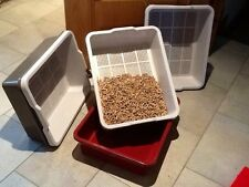 CLEVER SIEVE LITTER TRAY FOR WOOD PELLETS.                   4 Colours Available