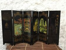 CHINESE OLD LACQUER HANDWORK PAINTING BEIJING SCENERY SCREEN DECORATION USED