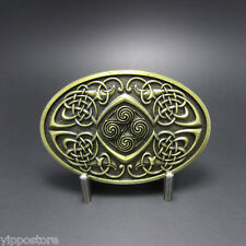 Bronze Keltic Celtic Knot Oval Western Metal Fashion Belt Buckle