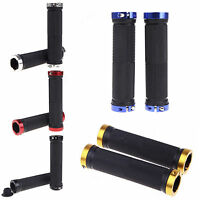 Double Lock On Locking Handlebar Grip Cycle Bicycle MTB Mountain Bike BMX Sports