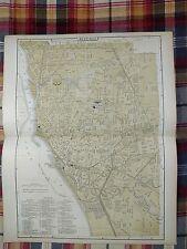 BUFFALO NEW YORK Map 1896 Antique Original Johnson's RR NYC&H Railroad MAPZ32