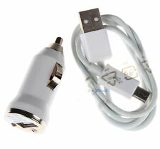 Car Charger+Micro USB Cable for Samsung Galaxy S4 IV i9500 S3 III i747 White KJ