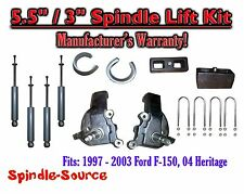 "1997 - 2003 Ford F-150 F150 2WD 5.5"" / 3""  Spindles blocks LIFT KIT + SHOCKS"