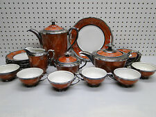 Old 23pc Rudolph Wachter Decor RW Bavaria Feinsilber Porcelain Tea Set