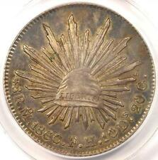 1860/59 MO Mexico 8 Reales Coin (8R) - Certified ANACS AU53 - Rare!