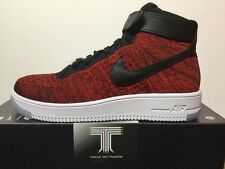 NIKE Air Force 1 Ultra Flyknit MID ~ 817420 600 ~ UK taglia 7