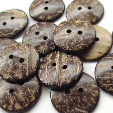 New Natural Coconut wood Button 2 Hole 22mm 30pcs