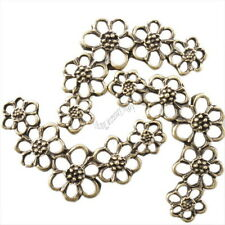 30pcs 144092 Wholesale Fashion Flowers Vintage Bronze Alloy Connector Pendants