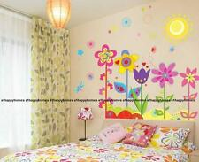 Colourful Flowers Butterfly & Bee Sun Wall Stickers Art Decor Decal TV Bedroom