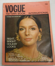 Vogue Pattern Book Magazine Right Bright Holiday Looks January 1969 081315R