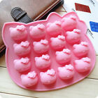 New Silicone DIY 16Cats Ice Cube Chocolate Cake Cookie Cupcake Soap Mold Mould