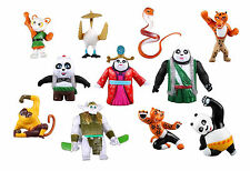 Kung Fu Panda Po Li Playset 11 Figure Cake Topper * USA SELLER* Toy Doll Set