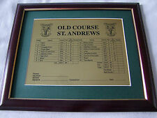 St Andrews Old Course Brass Scorecard Framed hung or free standing
