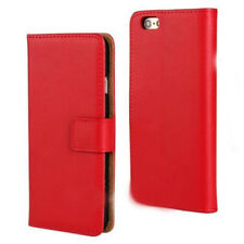 Genuine Leather Flip Case Cover Card Slot Stand Wallet Magnetic For iPhone 5s 6