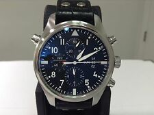 IWC Ref. IW3778 PILOT DOUBLE Split Second Chronograph S/S 46mm Day/Date! B&P!