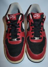 NIKE - AIR FORCE 1 - RED BLACK WHITE - TRAINERS - SIZE 9.5