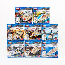 Space Ship Tank Jet Helicopter Minifigures Building Blocks Toy Army Gift A0963