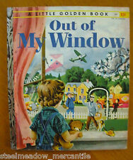 "OUT OF MY WINDOW 1955 ""A Little Golden Book"" 1st ""A"" Low Illustrated Jackson!"