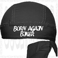 Jesus Christian Black Born Again Head Doo Rag Du Skull Cap Harley All Biker Hat