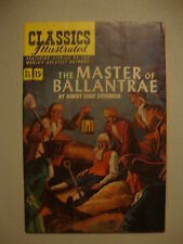 Classic Illustrated #82 G+ 1st PRT Master Of Ballantrae