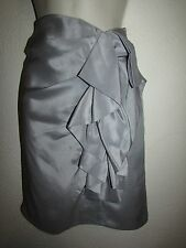 NWT BANANA REPUBLIC MONOGRAM GRAY  SKIRT SZ: 2 SIDE/ZIPPER