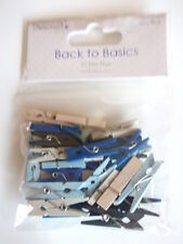 Dovecraft Back to Basics True Blue - 35 Mini Pegs