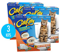 3 Pack - CITIKITTY CAT TOILET TRAINING KIT - Save $$$$