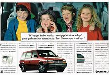 Publicité Advertising 1994 (2 pages) Le Voyager Turbo Diesel par Chrysler