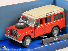 LAND ROVER S3 Safari in Red 1/43 scale model by Cararama