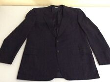 Brioni Roma Men's Black Sports Coat Jacket Size 44 Stripes Two Buttons