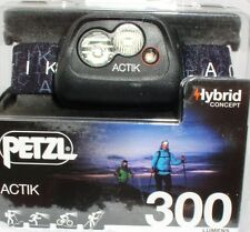 Petzl Actik - Aktive Stirnlampe in Black - 300 Lumen, Kopflampe, Headlight