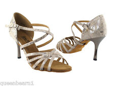 Beige Ballroom Salsa Latin Dance Shoes Slim heel 3 Size 6 Very fine