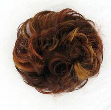 chouchou peruk cheveux châtain cuivré méché blond clair et rouge ref: 17 33h130