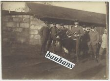 Foto Soldaten FA 219-in Frankreich-aue Esel 1.WK (u497)